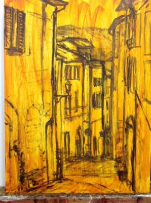 "Artist's mindmap by Marion Langford of ""The Streets of Orvieto"""