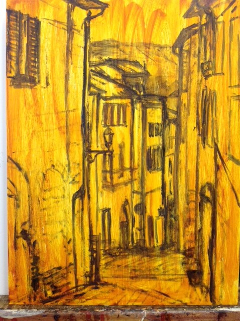 """Artist's mindmap by Marion Langford of """"The Streets of Orvieto"""""""